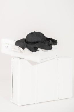 Chapeau rafia noir